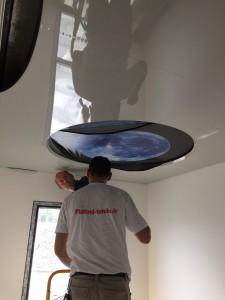 Montage imprimé - plafond-tendu